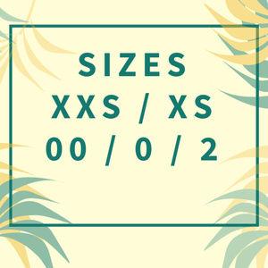 Women's Size XXS XS 00 0 2 -------------->